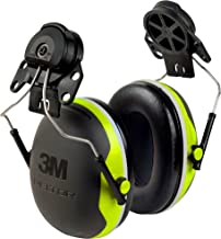 3M Peltor XSeries CapMount Earmuffs, NRR 25 dB, One Size Fits Most, Black/Chartreuse X4P3E (Pack of 1)