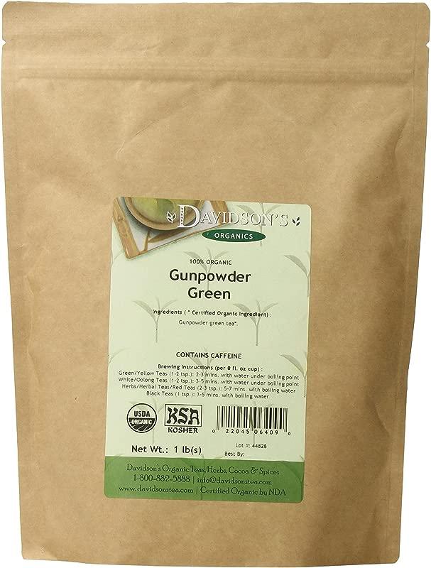 Davidson S Tea Bulk Gunpowder Green 1 Pound Bag