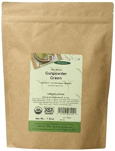 Davidson's Tea Bulk Gunpowder Green 1-Pound Bag