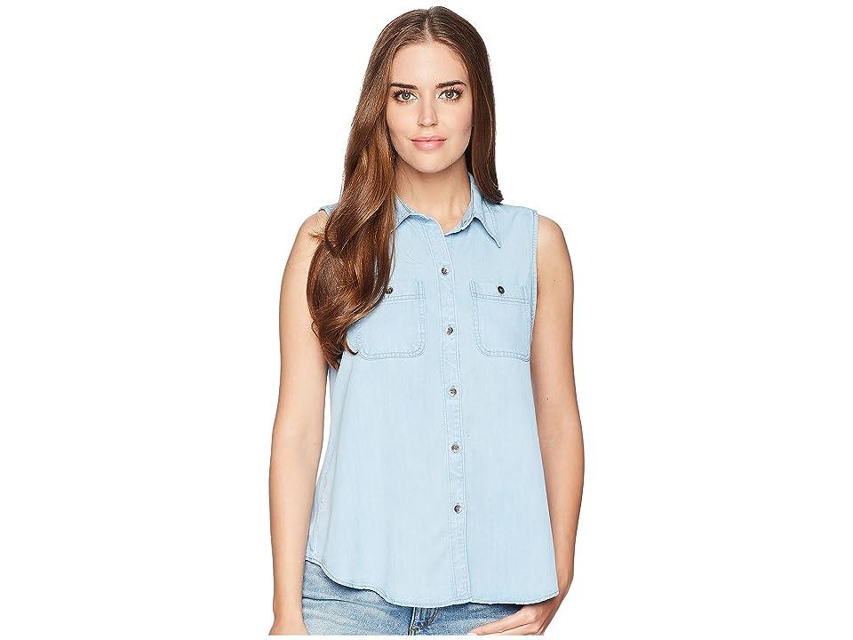 CHAPS Chambray Sleeveless Shirt (Sky Wash 2) Women
