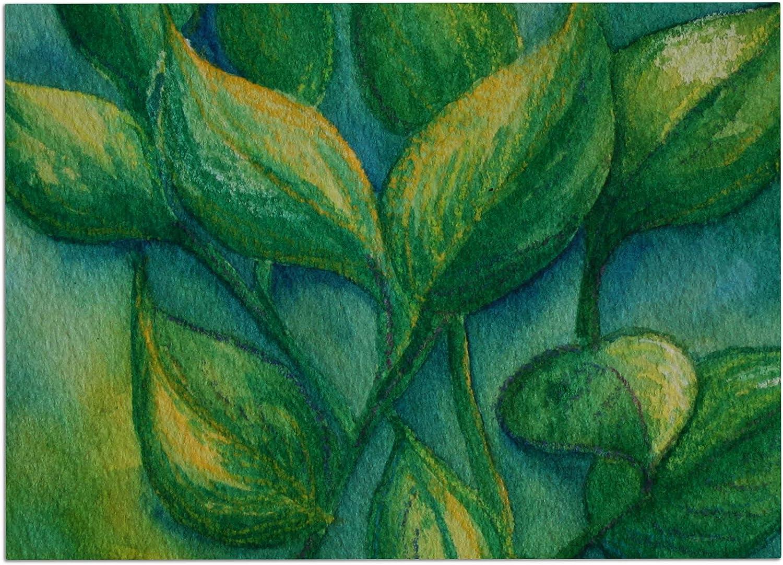 KESS InHouse CS2037ADM02 Cyndi Steen Beginnings Green Nature Dog Place Mat, 24  x 15