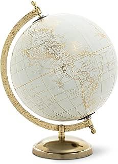 Abbott Collection 57-LATITUDE-02 Globe on stand, Ivory