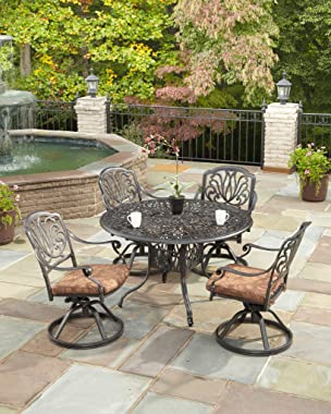 homestyles 6658-53 Outdoor Swivel Rocking Chair, 25.5Lx24.5Dx36.25H, Grey