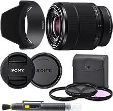 Sony 28-70mm F3.5-5.6 FE OSS Interchangeable Standard Zoom Lens with Pro Starter Kit, Includes: Filter Kit, Front Lens Cap, Rear Lens Cap, Lens Hood and Lens Pen - International Version