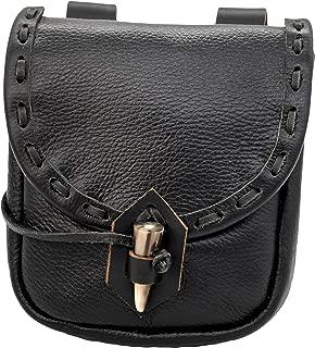 Medieval Leather Pouch Accessory Renaissance Bag