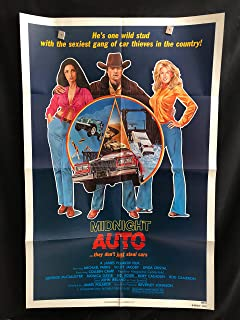 Love And The Midnight Auto Supply 1980 Original Vintage One Sheet Movie Poster, Rory Calhoun, Stolen Cars