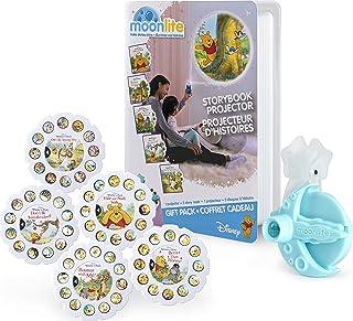 Moonlite, Winnie the Pooh - Paquete de regalo con proyector de libro de cuentos para smartphones y 5 carretes de historias