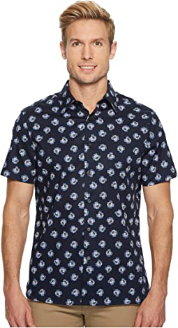 Perry Ellis - Short Sleeve Cluttered Rose Shirt