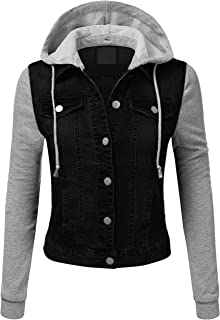 Womens Classic Long Sleeve Button Up Slim Fit Denim Jacket