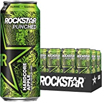 Deals on 12 Pack Rockstar Energy Drink Punched Hardcore Apple 16oz Cans