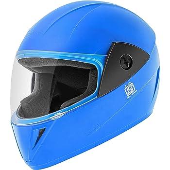 Gliders. Jazz Full Face Helmet (Blue, Clear Visor, 580 mm)
