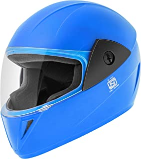Gliders. Jazz Full Face Helmet (Blue, Clear Visor, 580 mm)