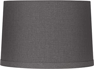 Gray Linen Drum Lamp Shade 15X16X11 (Spider) - Springcrest