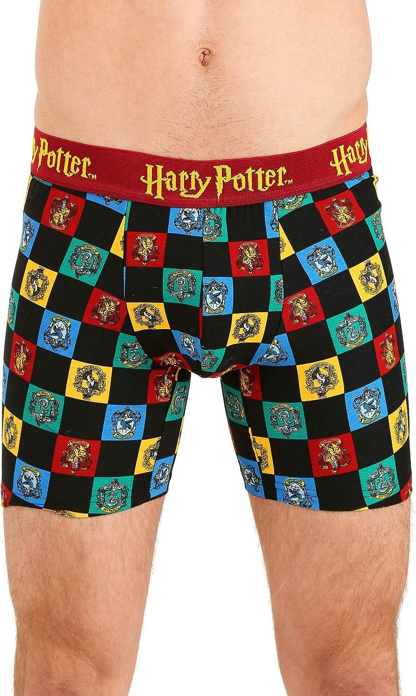 Underboss Men's Harry Potter Hogwarts House Mascots Boxer Brief