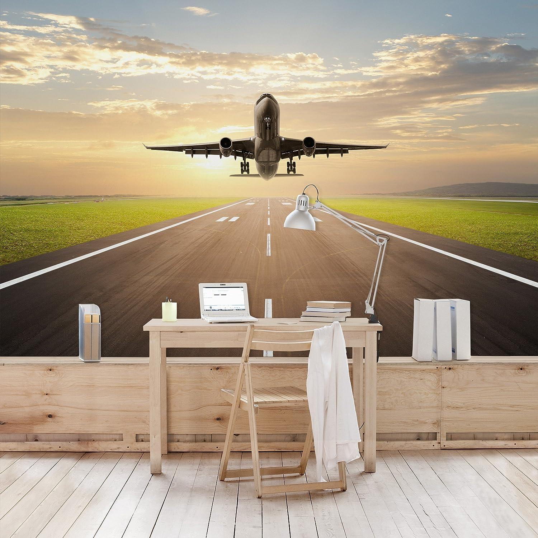Vließ Fototapete Tapete Wandbild Flugzeug Fliegen aus der Wand 3D MS0910407/_VEMV