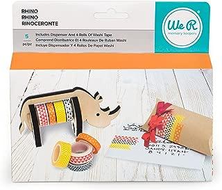 American Crafts 660795 We R Memory Keepers Washi Tape Dispenser Rhino
