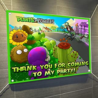 PLANTS VS ZOMBIES Banner Video Game Large Vinyl Indoor or Outdoor Banner Sign Poster Backdrop, party favor decoration, 30