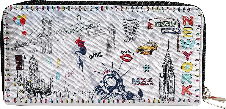 New York Women Fashion Two Wallet Souvenir Ballon- Zipper NEW before selling ☆ Purse discount