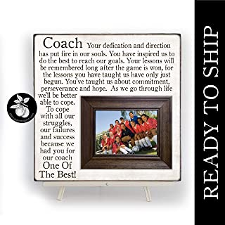 READY TO SHIP End of the Season Coach Gift, Personalized Gift for Coach, Coach Frame 16x16 The Sugared Plums Frames