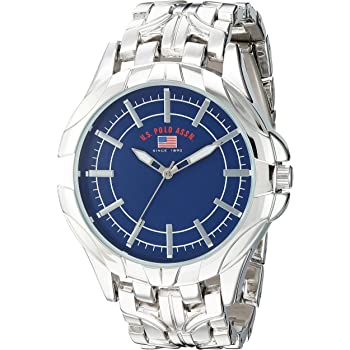 Amazon.com: U.S. Polo Assn. Men's Analog-Quartz Watch with Alloy Strap, Silver, 14 (Model: US8615): Watches