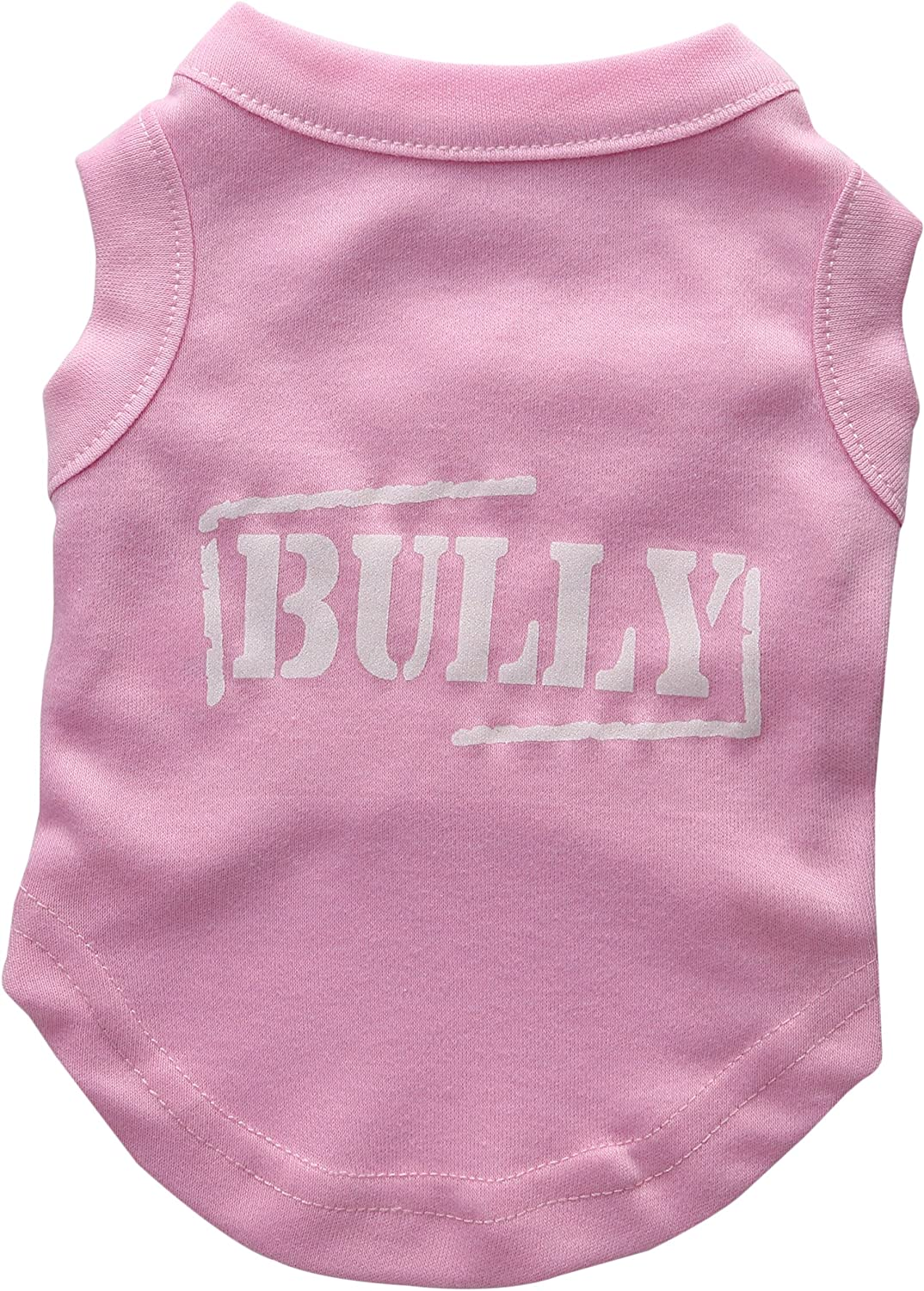 Mirage Pet Products 10Inch Bully Screen Printed Shirts for Pets, Small, Light Pink