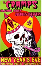 The Cramps Poster w/Jeepers Creepers & Blazing Haley 2003 Concert - Signed & Numbered Original