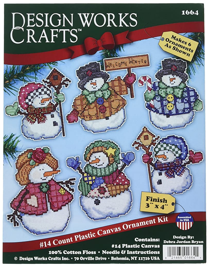 Design Works Crafts Welcome Winter Cross Stitch Ornament Kit, 4