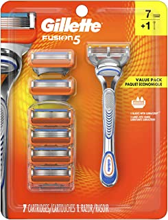 Gillette Fusion5 Men's Razor Handle + 7 Refills
