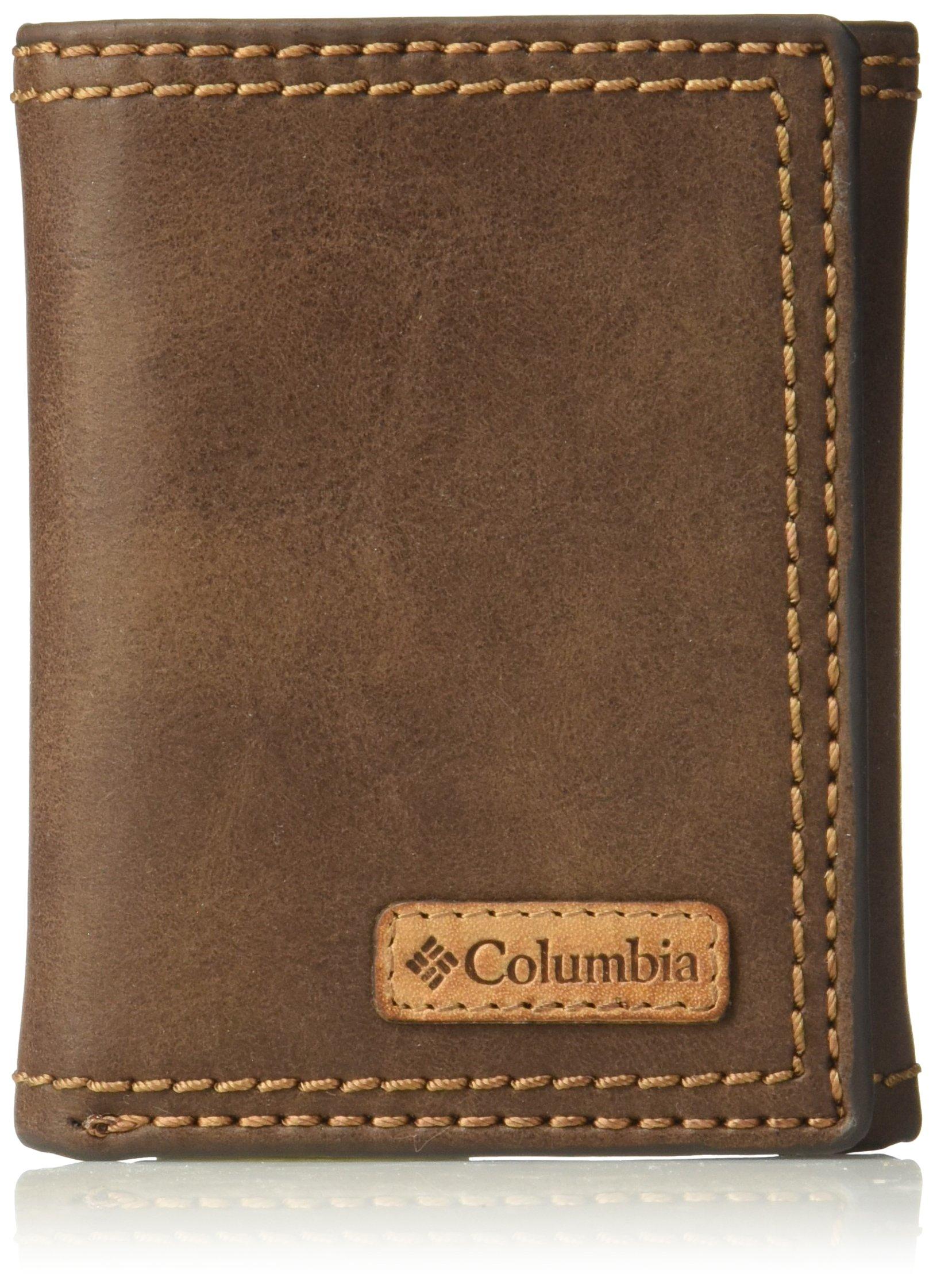 Columbia Blocking Trifold Wallet brown