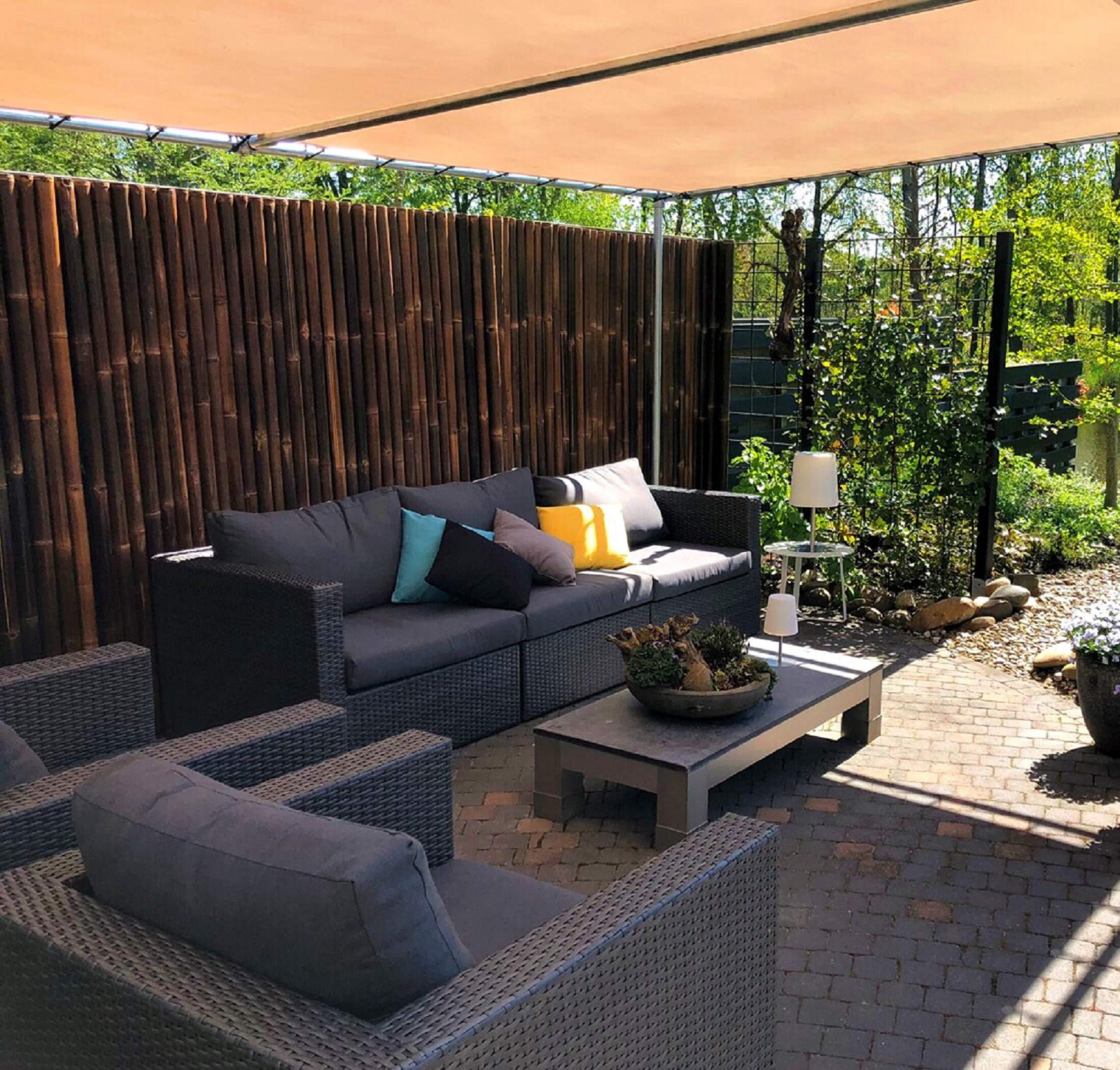 DE-COmmerce Extremo Estable Madera Bambú Valla Ocultación Valla XL Paravientos con Sim y Selladas Bambusrohren - Nigra, 180 x 100 cm: Amazon.es: Jardín