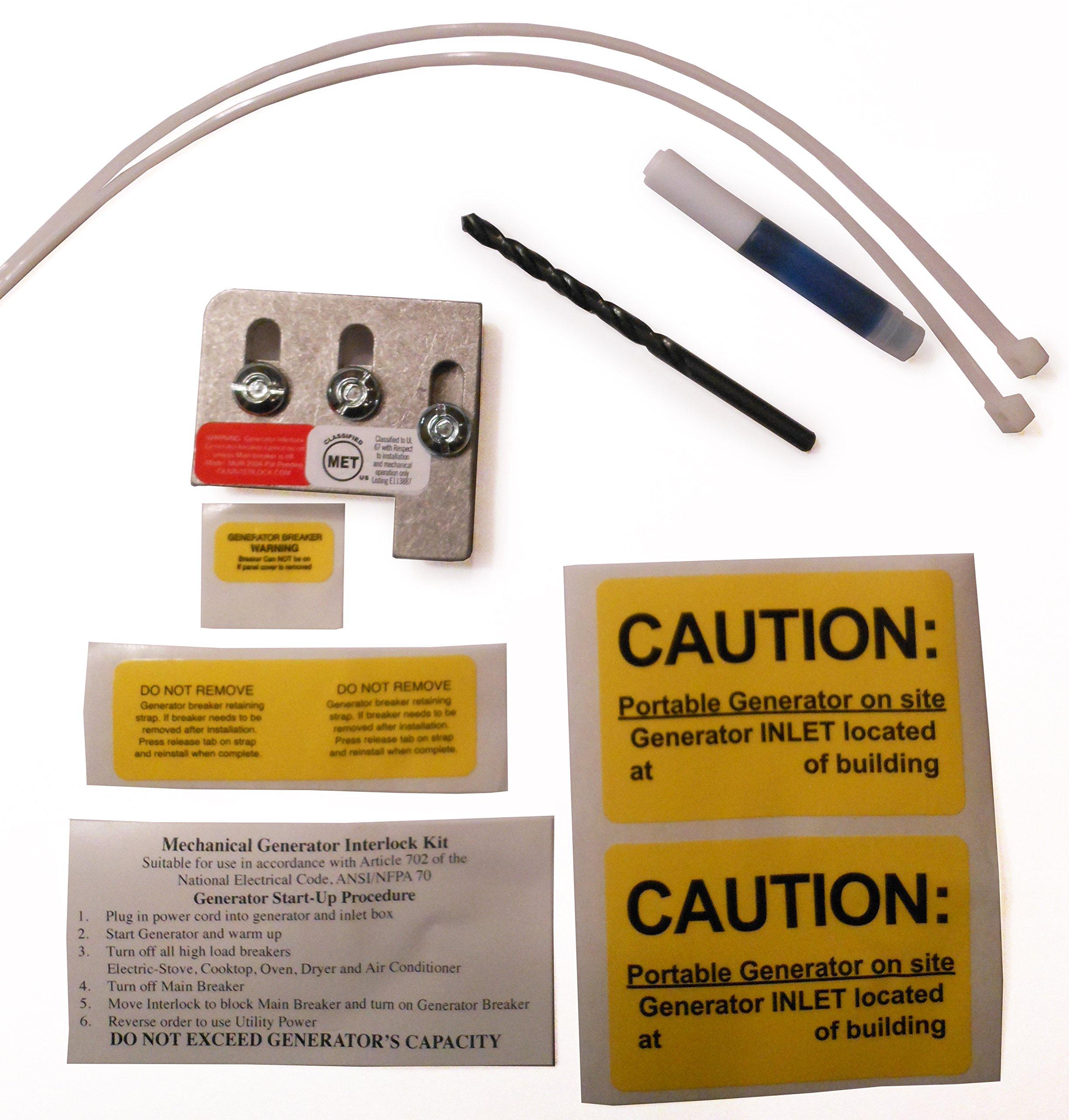 generator interlock amazon com Electrical Outlet Box mur 200a murray or siemens generator interlock kit 150 amp or 200 amp panels