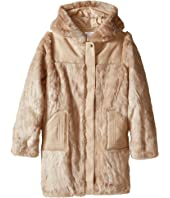 Chloe Kids - Hooded Faux Fur Coat (Big Kids)