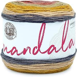 Lion Brand Yarn 525-214 Mandala Yarn, Centaur, 1 Pack