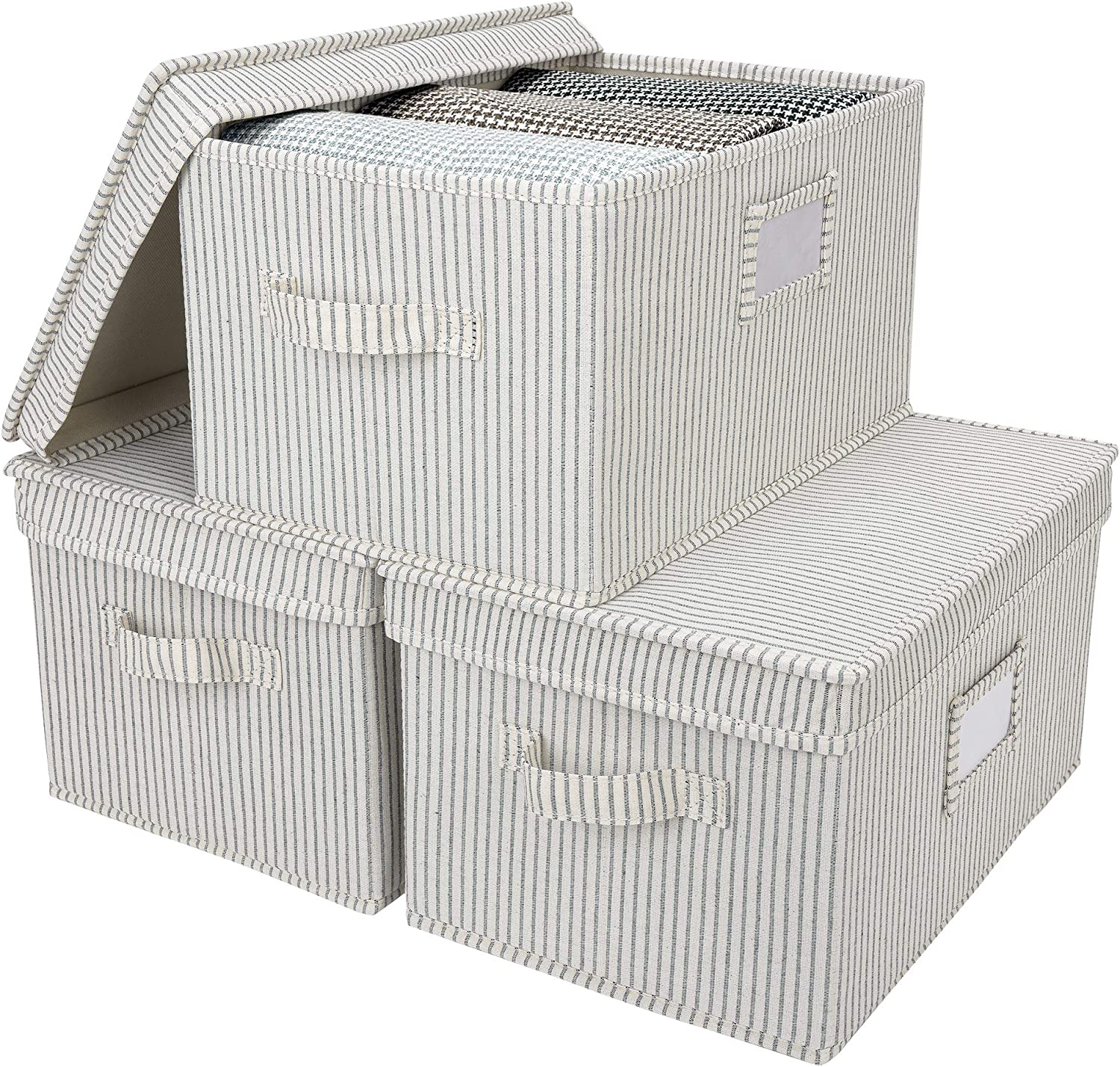 StorageWorks Storage Bargain sale Sale special price Bins with and Lids Canvas Handles