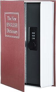 AmazonBasics - Caja de seguridad en forma de libro - Cerradura con combinación - Rojo