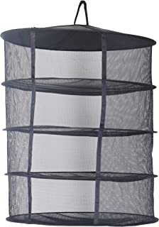 zazzy 2ft 4 Layer Black Mesh Hanging Herb Drying Rack Dry Net