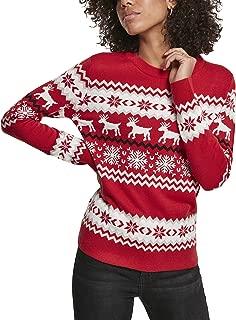 Urban Classics Pullover Ladies all-Over-Print Sweater Leo Crewneck Felpa Donna