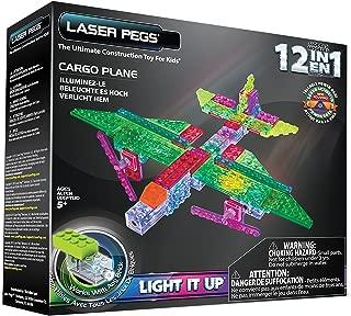 Laser Pegs 12-in-1 Cargo Plane Building Set