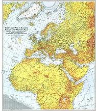 National Geographic: World War 2 - Theater of War in Europe, Africa y Asia Occidental 1942 - Histórico Wall Map Series - 26.75 x 30.75 pulgadas - Impresión de calidad artística