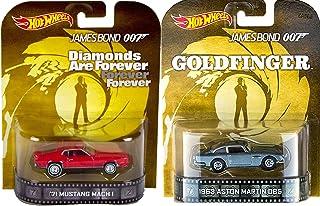 Hot Wheels 007 Goldfinger Diamonds are Forever Retro Entertainment James Bond 2 car Aston Martin DB5 & Mustang Mach 1
