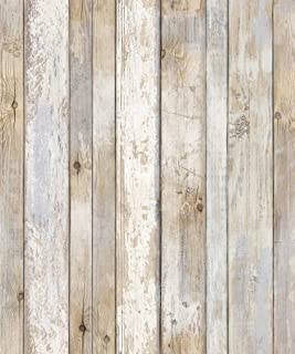 2Pack – Reclaimed Wood Distressed Wood Panel Wood Grain Self-Adhesive Peel-Stick..