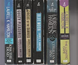 Laurell K. Hamilton - Set Of 6 Books - Guilty Pleasures - Cerulean Sins - Blue Moon - Circus Of The Damned - The Lunatic Cafe - Kiss The Dead.