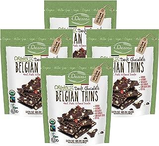 Deavas Belgian Thins Organic Dark Chocolate with Quinoa and Goji, 17.1 oz - 4Pk