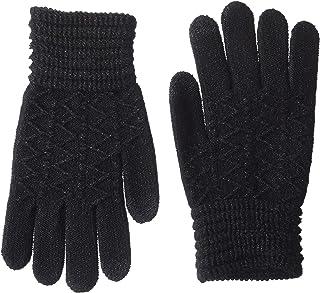 womens Lurex Zig Zag I-touch Gloves
