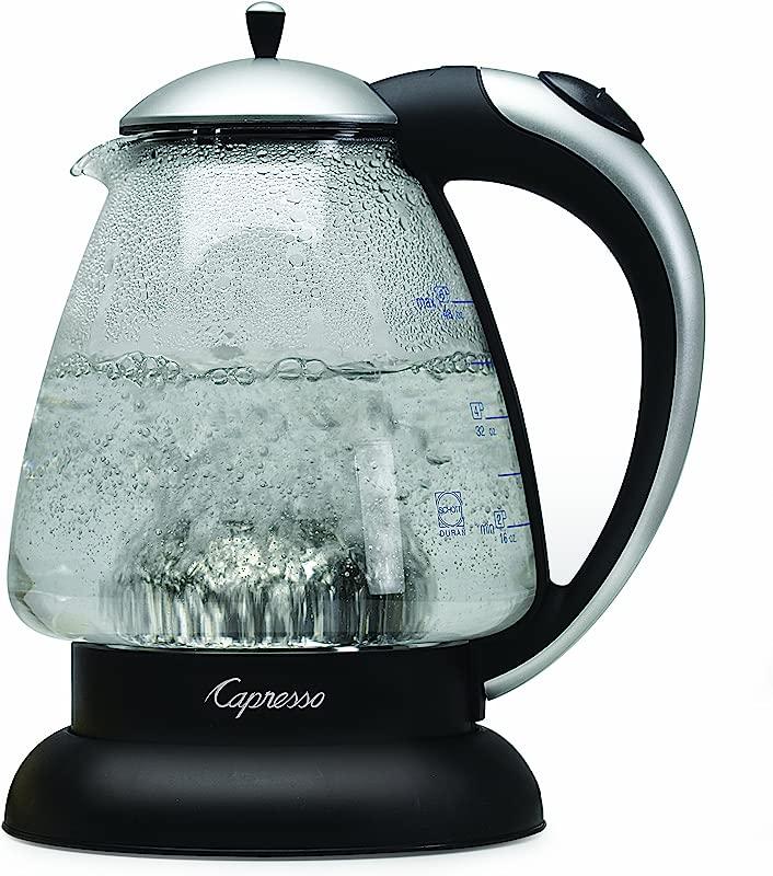Capresso 259 04 H2O Plus Water Kettle Matte Silver 48 Ounce