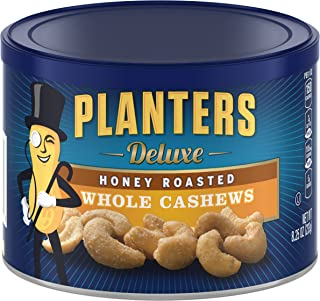 Planters Deluxe Whole Cashews Honey Roasted, 8.25 oz(Pack of 3)
