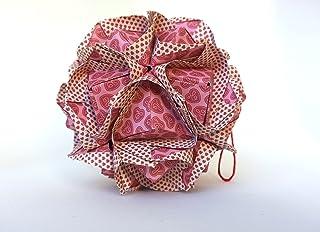 origami Clover Kusudama, 30 moduli rosa