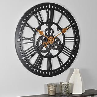 Relógio de parede FirsTime & Co. Roman Gear, bronze polido a óleo, 61 cm (00182)