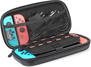AmazonBasics Carrying Case for Nintendo Switch and Accessories - 10 x 2 x 5 Inches, Black