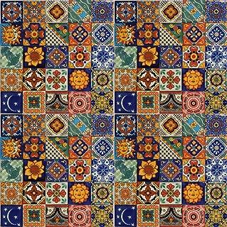 Color y Tradicion 100 Hand Painted Talavera Mexican Tiles 2